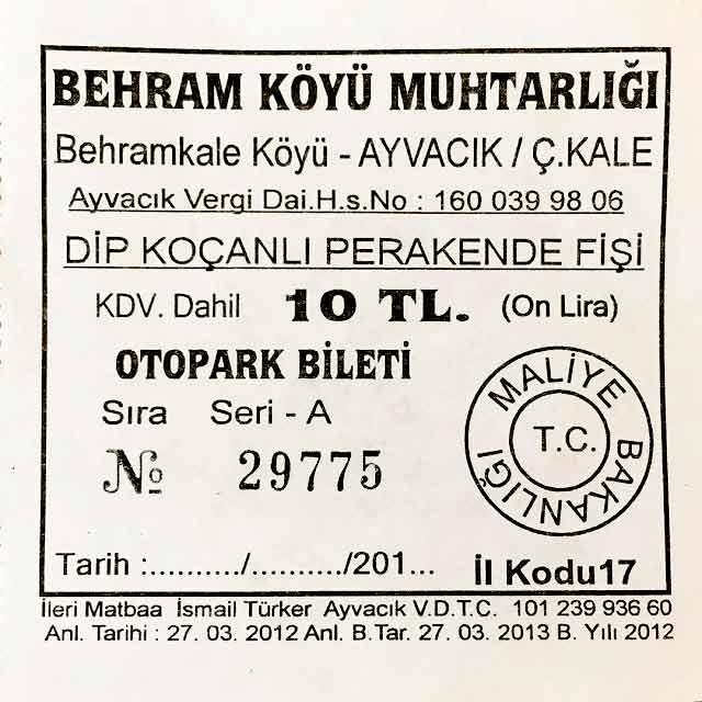 Assos Liman mevkiinde gelen ziyaretçilerden otopark ücreti alınması yasal mı