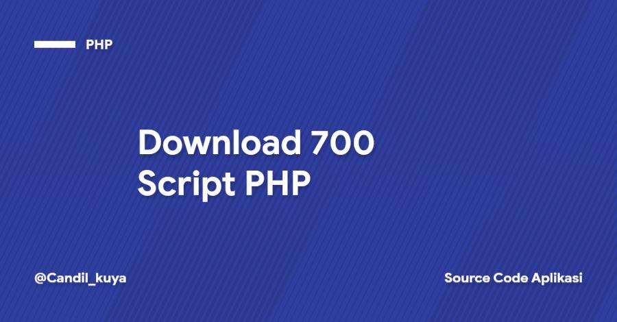 Download 700 Script PHP
