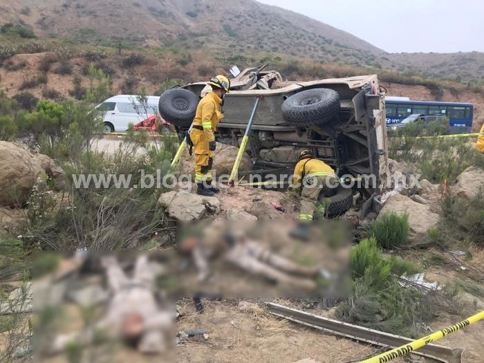 Video: 6 Militares muertos y 4  lesionados en volcadura en Baja California