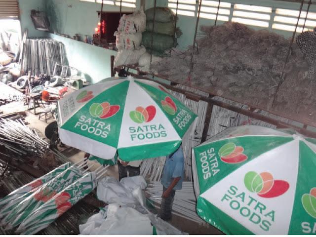 Dù quảng cáo siêu thị, dù che nắng siêu thị Satra Foods