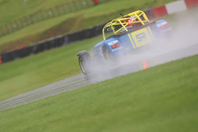 Friday testing was extreme wet at Donington Park GP Circuit