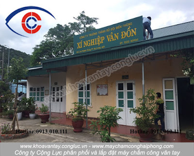Phân phối và lắp đặt máy chấm công vân tay Ronald Jack X938C cho xí nghiệp Vân Đồn - Bãi Cháy - Hạ Long - Quảng Ninh.