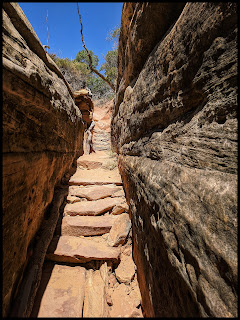 Chesler Park trail in Canyonlands is packed with stairs.