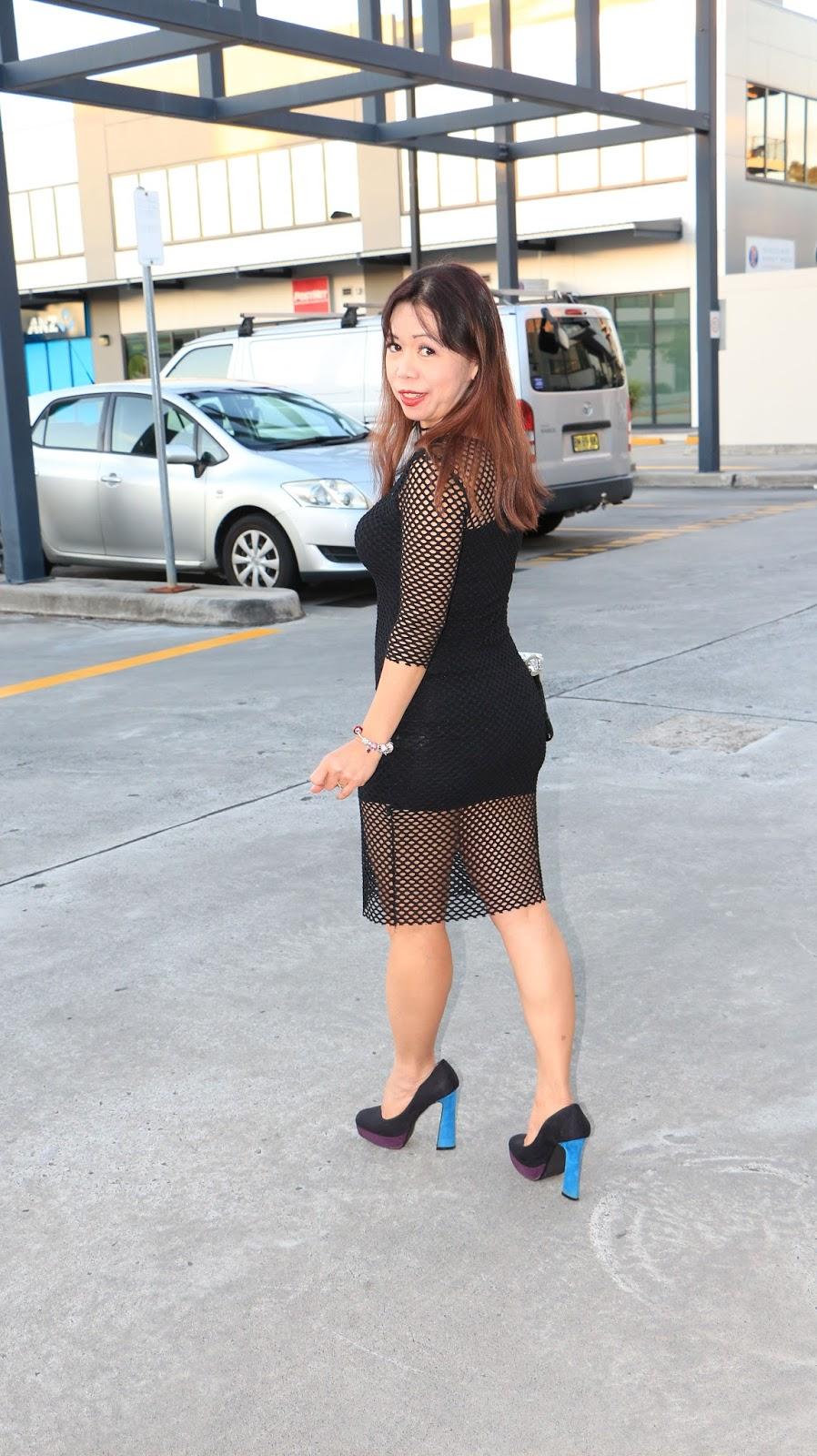 black blue shoes