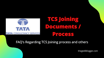 TCS Joining Documents / Process