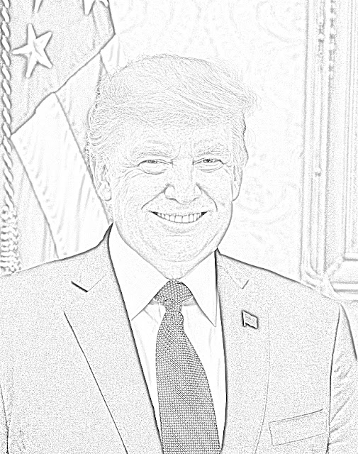 President Donald Trump coloring.filminspector.com