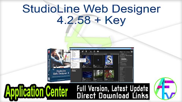StudioLine Web Designer 4.2.58 + Key