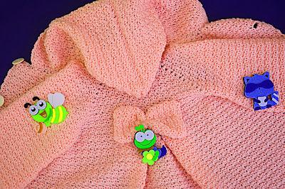 5 - Crochet Imagen Capucha de abrigo rosa por Majovel Crochet