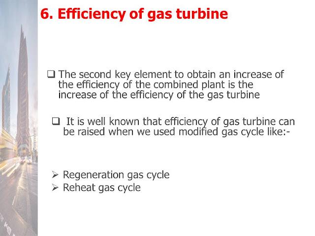 Efficiency of gas turbine