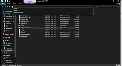 Buka Folder SCRCPY