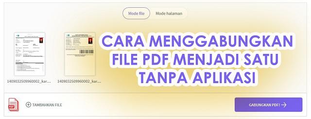 Cara Menggabungkan PDF Tanpa Aplikasi