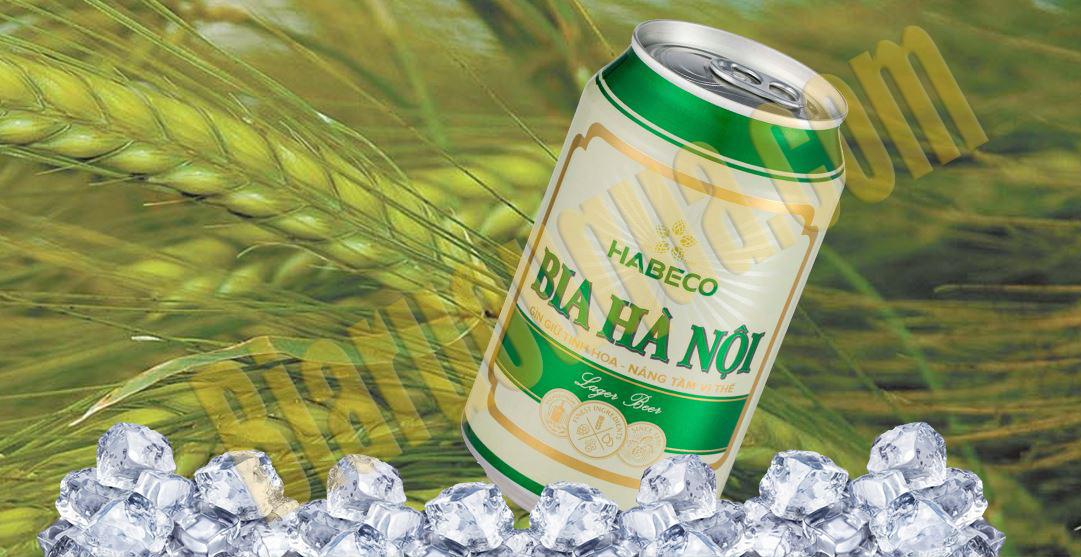 Thùng bia lon Hà Nội nhãn xanh