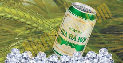 Bia lon Hanoi nhãn xanh