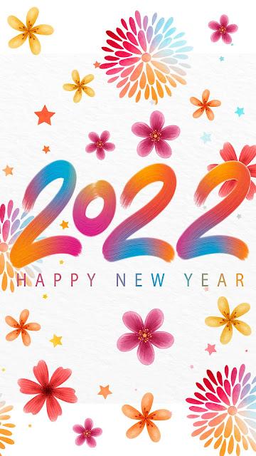 Phone wallpaper 2022 new year watercolor