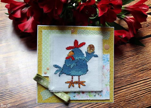 Wielkanocne kartkowanie - kartka z kurczakiem