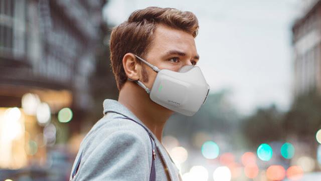 Desarrollan una mascarilla electrónica equipada con ventiladores que detecta el ritmo de la respiración del portador