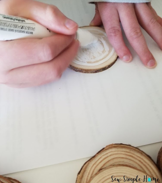 wood slice ornaments diy