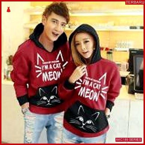 AKC189S15 Sweater Couple Meow Anak 189S15 Pasangan Maroon BMGShop