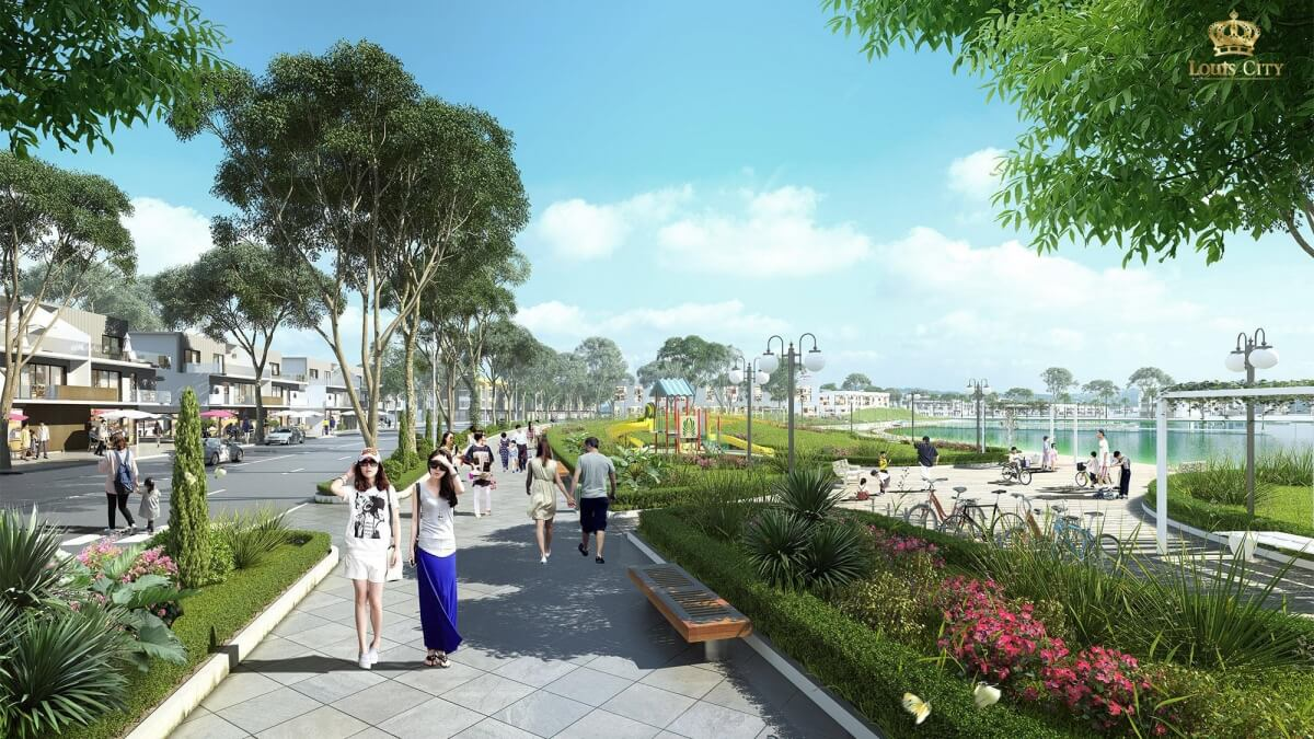 Cảnh quan dự án Louis City Tân Mai