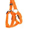 Paperflower? LED Flashing Dog Harness Strong Waterproof Nylon Webbing Visible Led Light Harness Used for Safe Walking Hiking and Jogging (L, Orange)