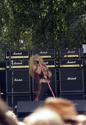 What a fucking awesome picture!! Dee on stage in front of a stack of Marshall amps at The Monsters Of Rock show... Germany 1983. Wow!