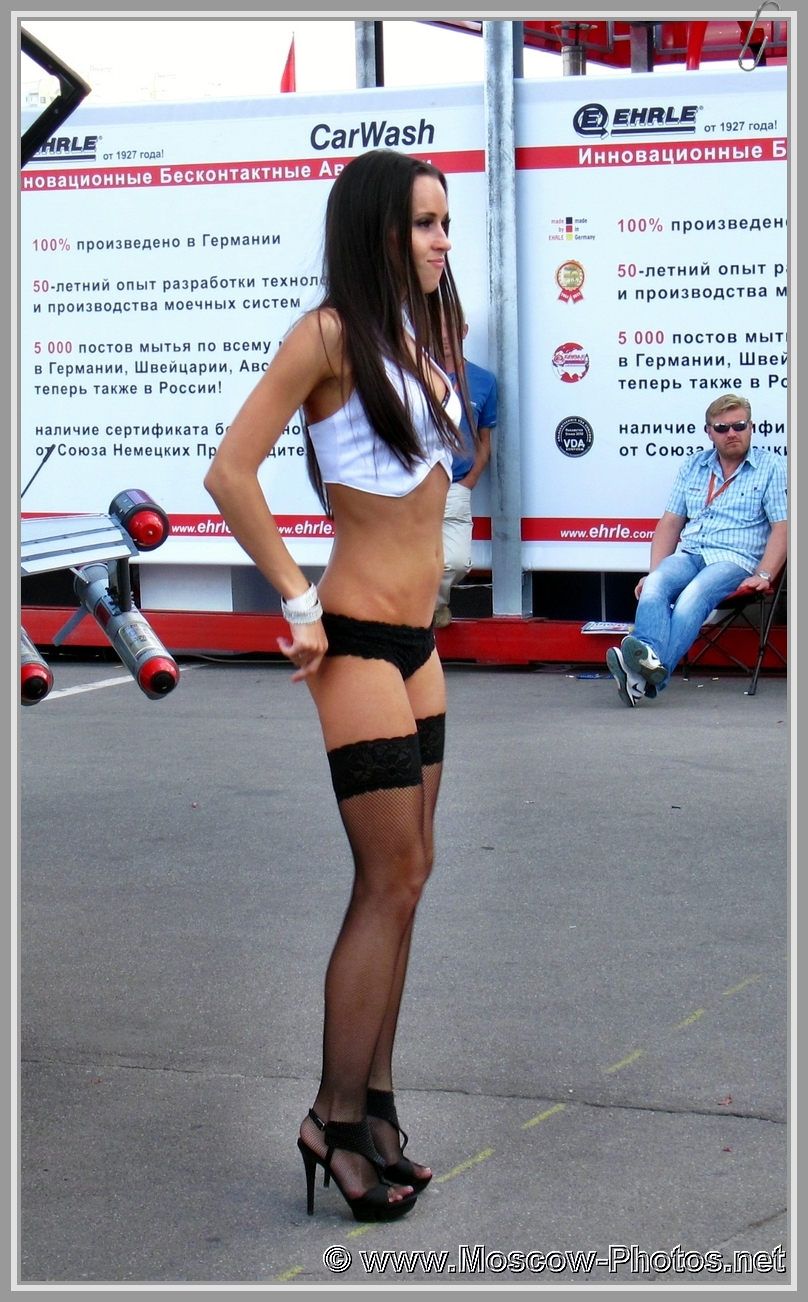 Dancing girl on the street of Moscow