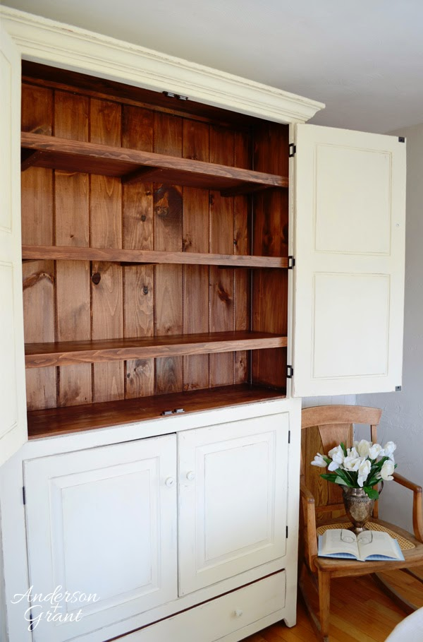 Painted Pantry Cupboard in the kitchen from anderson + grant