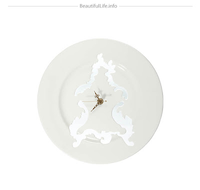 Platos decorativos reloj
