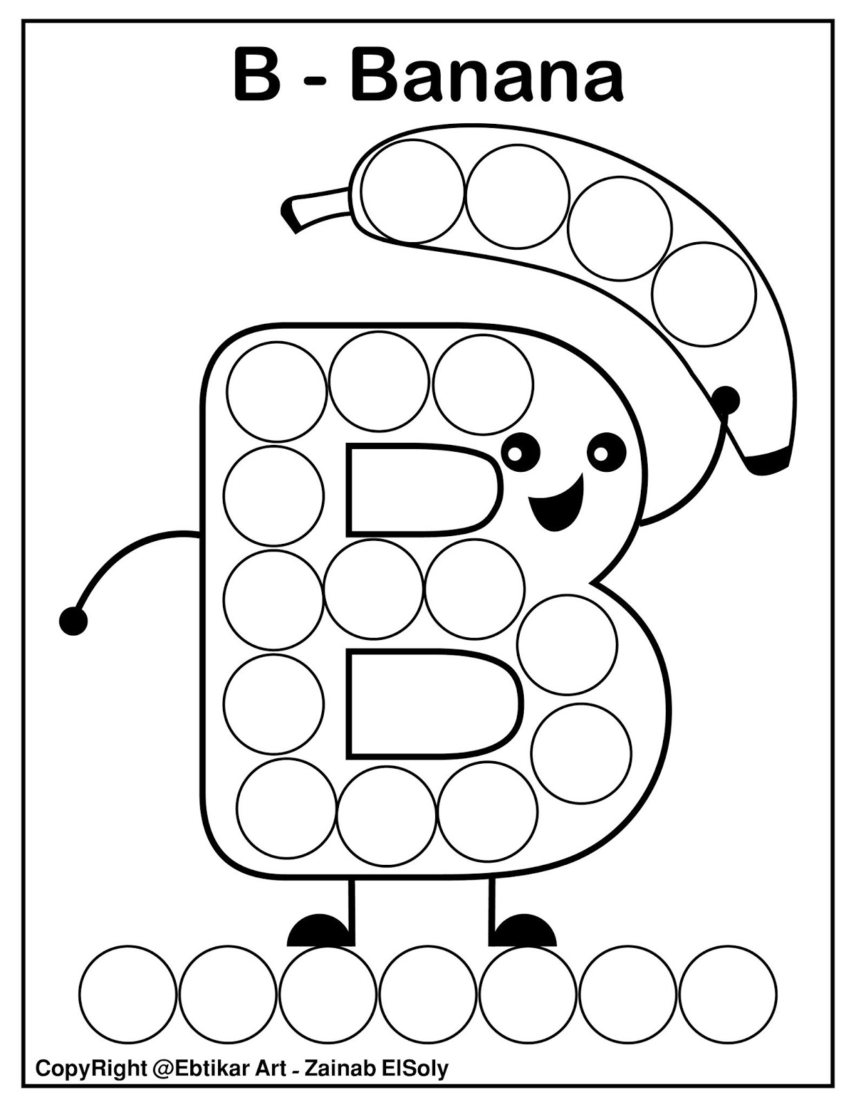 Set Of Abc Dot Marker Coloring Pages
