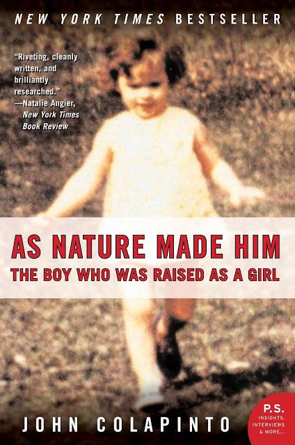 O caso de Brian-Brenda-David Reimer virou matéria de livros.