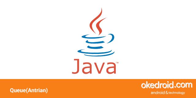 belajar contoh program menggunakan queue antrian di dengan Java