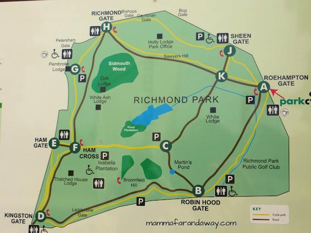 mappa richmond park