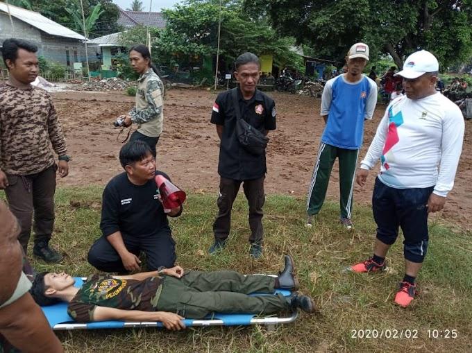 Koramil 06/Cimanggis Gelar Latihan Penanggulangan Bencana Alam