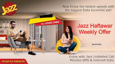 Jazz Haftawar Offer - Weekly Offers Subscription & Unsub Code