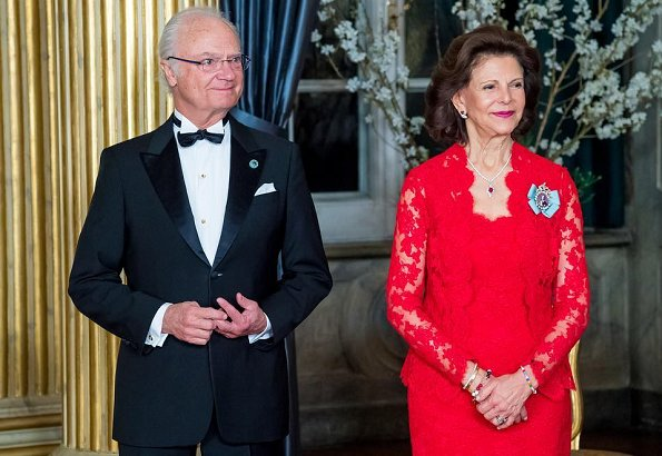 Ida Sjöstedt long floral skirt and Frida Jonsvens blouse
