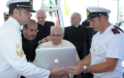 Pope Francis and computer