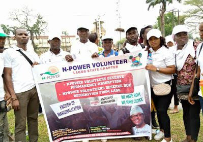 Npower Beneficiaries Protest
