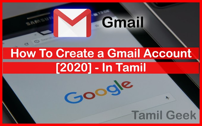 How To Create a Gmail Account in Tamil [2021]