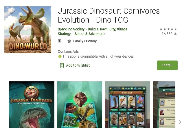 best dinosaur game in android