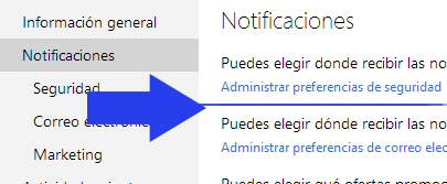 notificaciones outlook