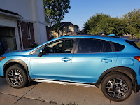 Subaru Crosstrek Hybrid Crossbars side view