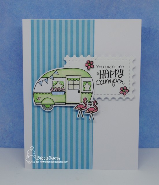You make me a happy camper by Debbie features Cozy Campers and Framework by Newton's Nook Designs; #newtonsnook