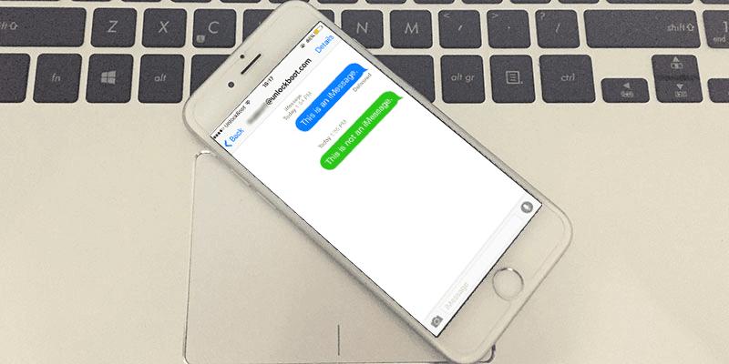 imessage vs text message