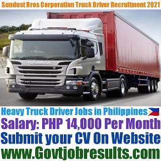 Sundust Bros Corporation Heavy Truck Driver Recruitment 2021-22
