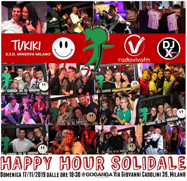 Happy Hour Solidale! Domenica 17 Novembre, dalle 18,00, Goganga, Milano!