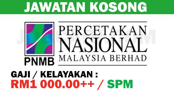 PERCETAKAN NASIONAL MALAYSIA BERHAD