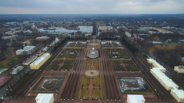 Фотография Петергофа с воздуха. Парк. Квадрокоптер