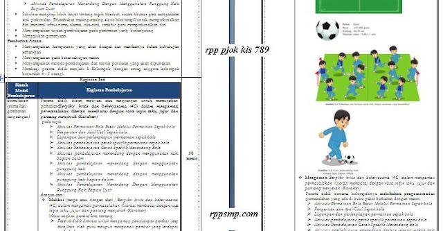 Download Rpp PJOK Smp Kelas 7 8 9 Kurikulum 2013 Revisi 2017 dan Revisi 2020 1 Lembar Semester 1 2 Ganjil dan Genap Lengkap Silabus Promes Prota Dll