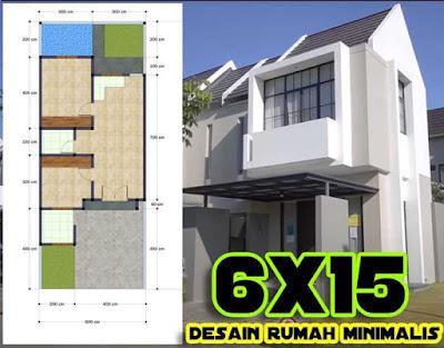 Gambar rumah minimalis modern 6x15