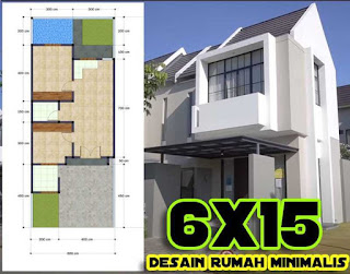 Gambar rumah minimalis modern 6x15 ada Kolam Renangnya